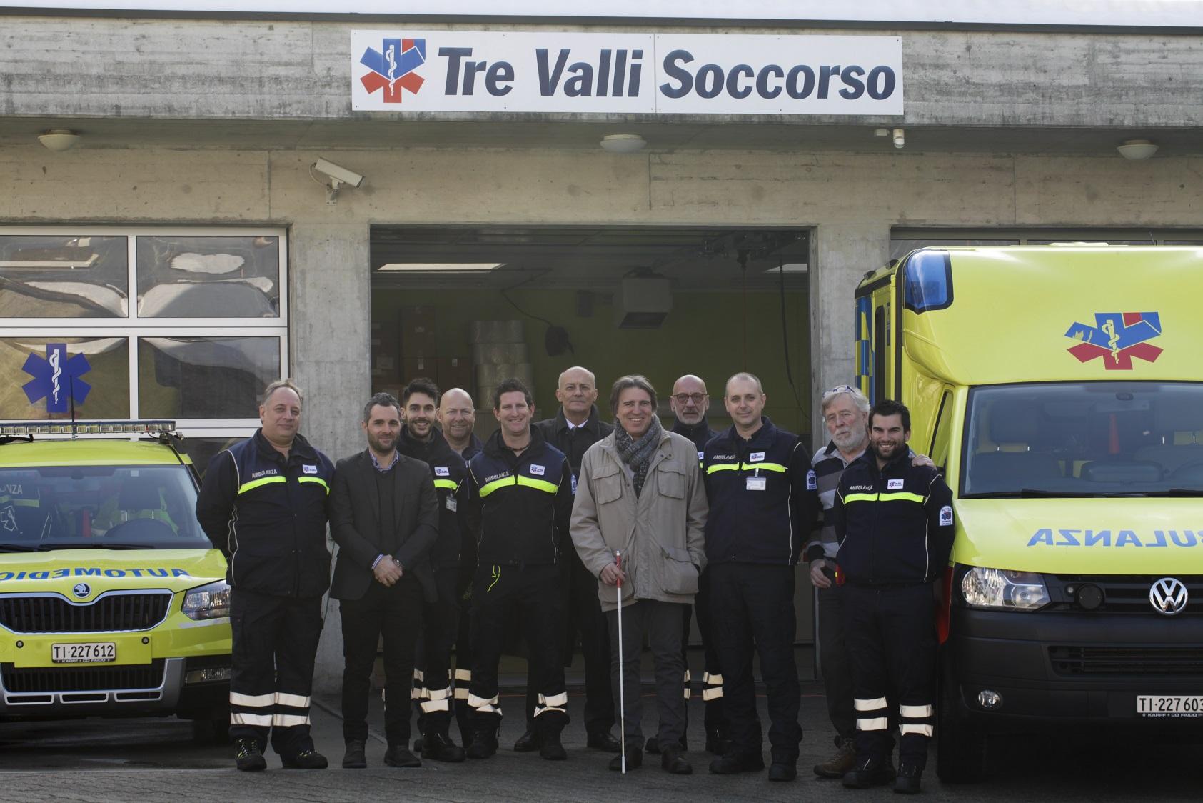 Il Presidente del Consiglio di Stato Bertoli in visita a Tre Valli Soccorso
