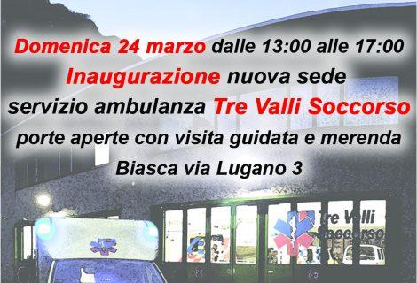 Inaugurazione Nuova Sede Tre Valli Soccorso –Domenica 24 marzo 2019–