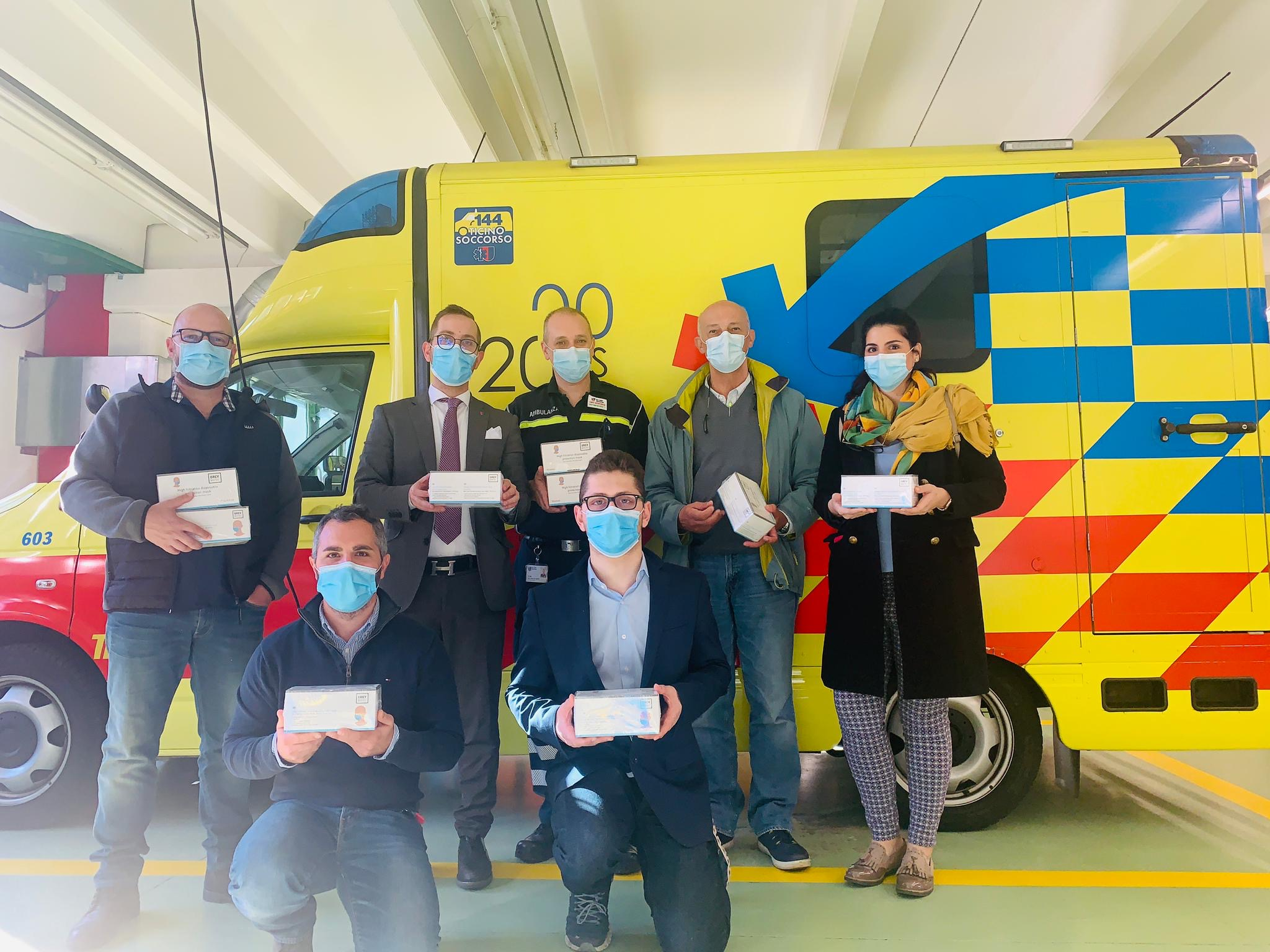 Donate 500 mascherine a Tre Valli Soccorso