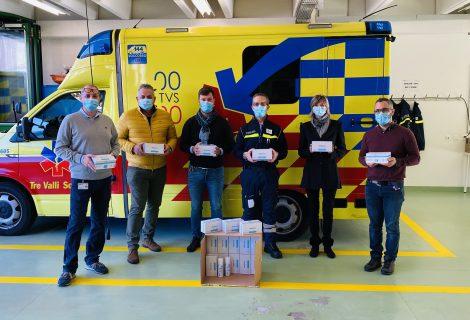 Altre 1'000 mascherine in dono a Tre Valli Soccorso